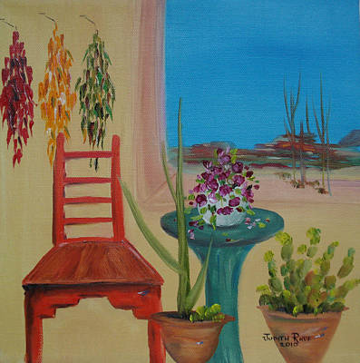 Art Print featuring the painting Southwestern 6 by Judith Rhue