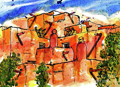 Painting - Southwestern Architecture by Terry Banderas