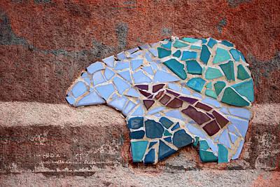 Zuni Photograph - Southwestern Bear Mosaic by Carol Leigh