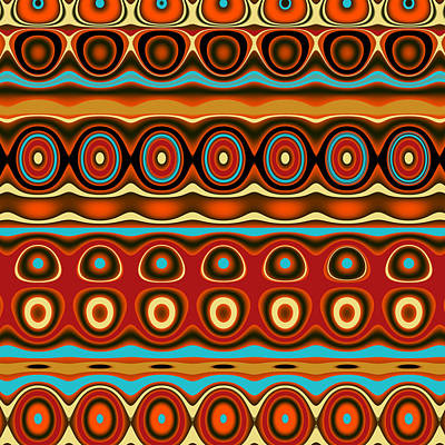 Digital Art - Southwestern Colors Pattern by Jessica Wright