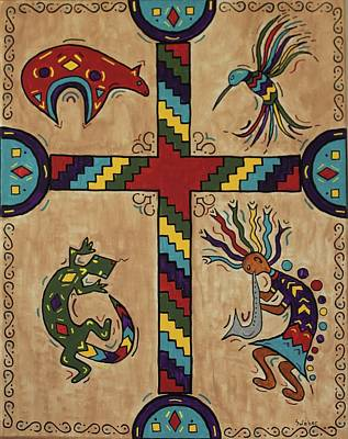Painting - Southwestern Cross by Susie WEBER