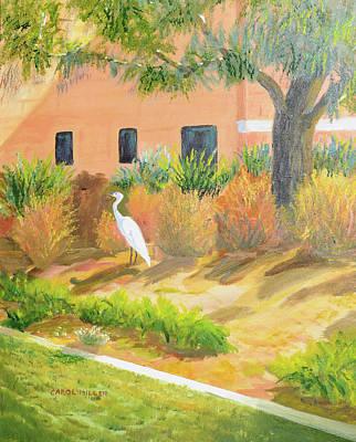 Painting - Southwestern Egret by Carol L Miller