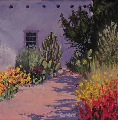 Painting -  Southwestern Garden Path - Art By Bill Tomsa by Bill Tomsa