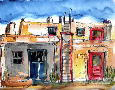 Painting - Southwestern Home by Terry Banderas