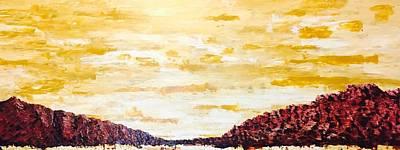 Southwestern Mountain Range Art Print