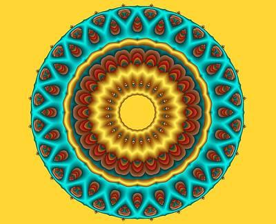 Digital Art - Southwestern Peacock Fractal Mandala by Ruth Moratz