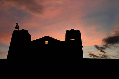 Photograph - Santa Fe Sunset Silhouette by Gregory Ballos
