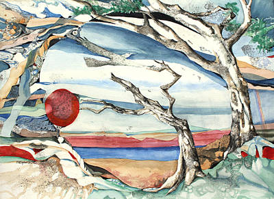 Patricia Mixed Media - Southwestern Tree by Patricia Allingham Carlson