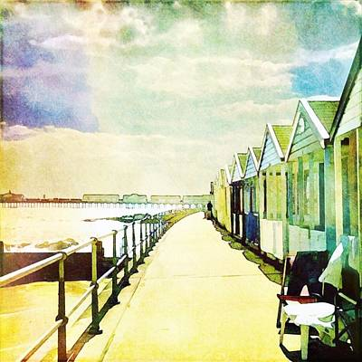 Photograph - Southwold Beach Huts by Anne Kotan