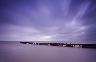 Photograph - Southwold Harbour Wall by Ian Merton
