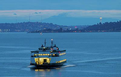 Photograph - Blue Hour Commute At Dawn by E Faithe Lester