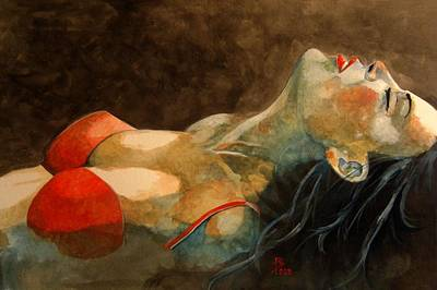 Soutien-gorge Rouge Art Print by Ray Agius
