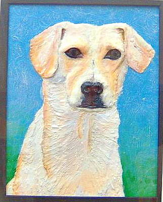 Polymer Clay Painting - Souvenir De Max- Polymer Clay Painting by Anastasia Verpaelst