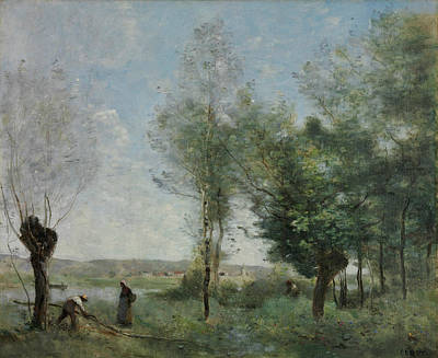 Souvenir Of Coubron Art Print by Jean-Baptiste-Camille Corot