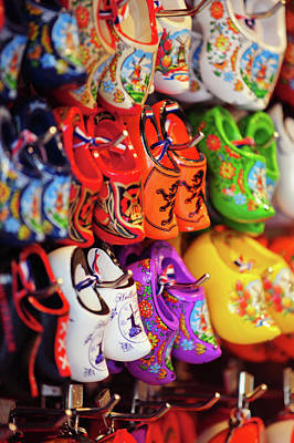 Photograph - Souvenir Shop With Dutch Wooden Shoes by Jenny Rainbow