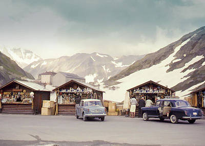 Photograph - Souvenir Shops, Mountain Pass, France by Richard Goldman