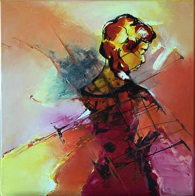 Felt Painting - Souveraine by Francoise Dugourd-Caput