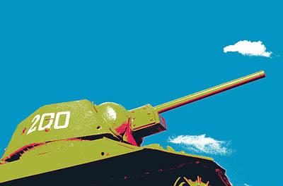 Communist Mixed Media - Soviet T34 Tank by Shay Culligan