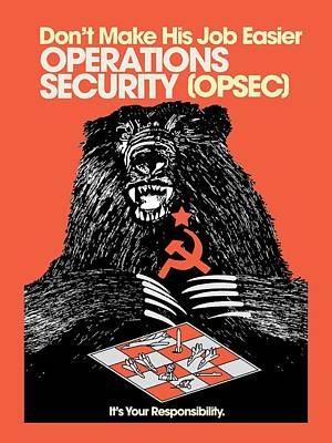 Propaganda Digital Art - Soviet Threat - Usaf Opsec Vintage 80's Print by Ed Jackson