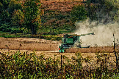 Digital Art - Soy Bean Harvest by Elijah Knight