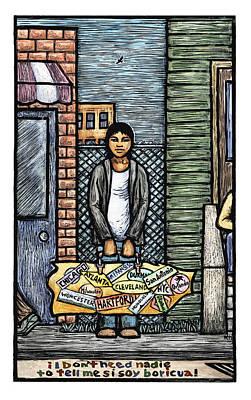 Youth Mixed Media - Soy Boricua by Ricardo Levins Morales