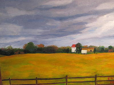 Soybean Field In Late Fall Original by Gloria Condon