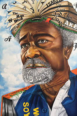 Painting - Soyinka An African Literary Icon by O Yemi Tubi
