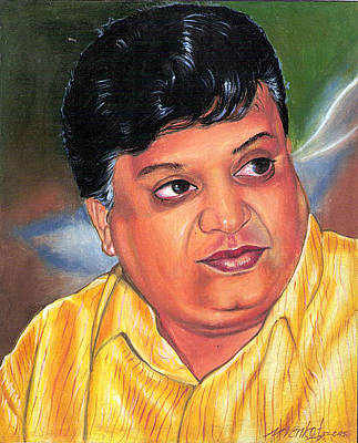 Painting - Sp Balasubramaniam by Venkat Meruvu