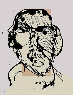 Self-portrait Mixed Media - Sp11009 by Noredin Morgan