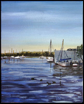 Edward Williams Painting - Spa Creek by Edward Williams