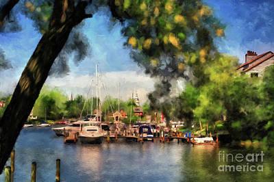 Digital Art - Spa Creek by Lois Bryan