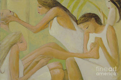 Art Print featuring the painting Spa by Glenn Quist