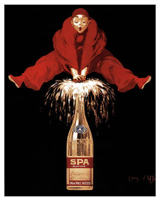 Mixed Media - Spa Monopole - Belgique - Champagne - Vintage Advertising Poster by Studio Grafiikka