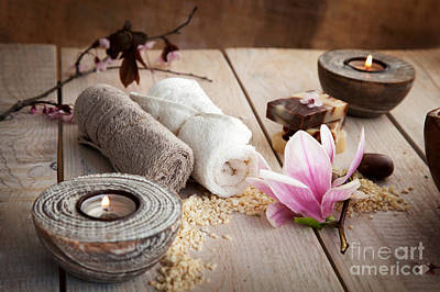 Spa Art Print by Mythja  Photography