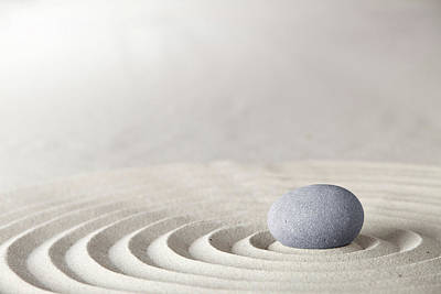 Photograph - Spa Wellness Or Zen Meditation Stone by Dirk Ercken