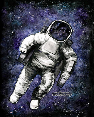 Outerspace Painting - Spaaaaace by Arleana Holtzmann