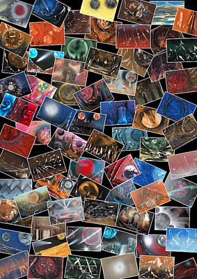 Digital Art - Space Art Collage by Jason Girard