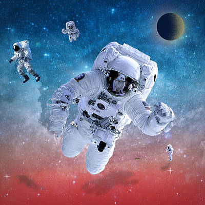 Pop Surrealism Digital Art - Space Astronaut by Mark Ashkenazi