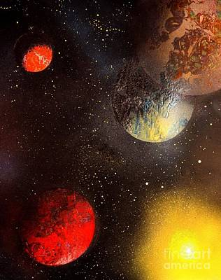 Painting - Space Balls by Greg Moores