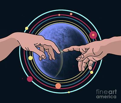 Space Blue  Art Print