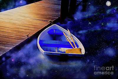 Photograph - Space Boat by Inspirational Photo Creations Audrey Taylor