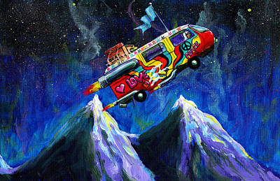 Painting - Space Bus by Charles  Bickel