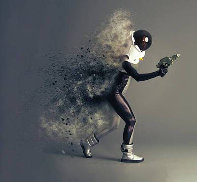 Spacesuit Photograph - Space Cadet by Nichola Denny