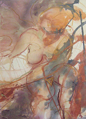 Abstracted Figuration Painting - Space Chic by Kohlene Hendrickson