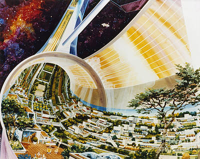 Photograph - Space Colony, 1975 by Granger
