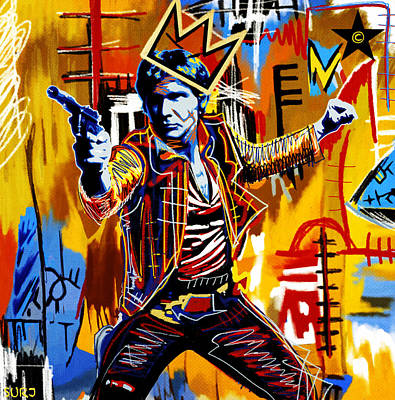Neo Expressionism Mixed Media - Space Cowboy Han Solo by Surj LA