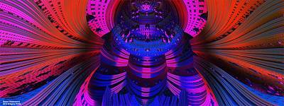 Si-fi Fractal Digital Art - Space Dimensions  by Gregory Pirillo