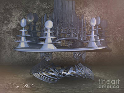 Digital Art - Space Dock by Melissa Messick