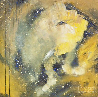 Space Elephant Print by Kate Maconachie