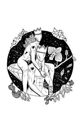 Space Embrace Art Print